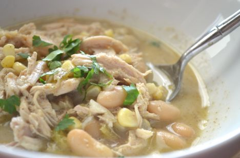 Creamy White Chicken Chili {Ms